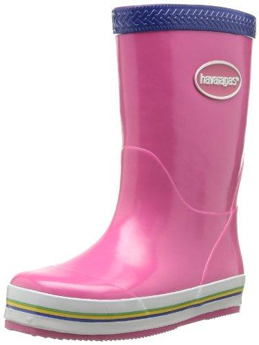 Havaianas Aqua Kids Rain Boots, Stivali di gomma Unisex-bambino Super Pink/Marine Blue