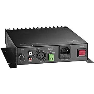 Monacor AKB-160 1.0 Wired Black audio amplifier - audio amplifiers (1.0 channels, 1%, 80 dB, 17 - 20000 Hz, 213 mm, 238 mm)