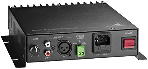 Monacor AKB-160 1.0 Wired Black audio amplifier - audio amplifiers (1.0 channels, 1%, 80 dB, 17 - 20000 Hz, 213 mm, 238 mm)