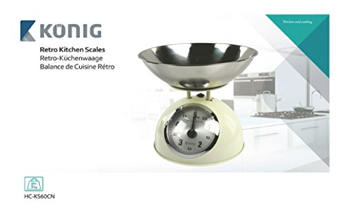 König HC-KS60CN Küchenwaage, Kunststoff / Stahl, mehrfarbig, 27 x 27 x 16 cm - 3