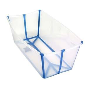 A Real Cool World Flexibath Fold Away Baby Bath Tub (Transparent/ Turquoise)