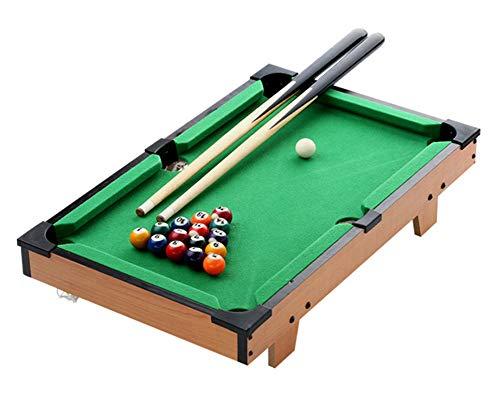 Lcyy-game Mini-Tisch-Pooltisch mit Dreieck, Kugeln, Queues, Kreide und Pinsel