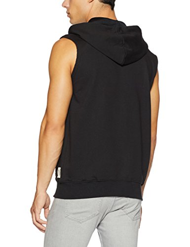 Symbol Men's Sleeveless Sweatshirt Jacket (AW17-SW-ZP-16_S_Jet Black)