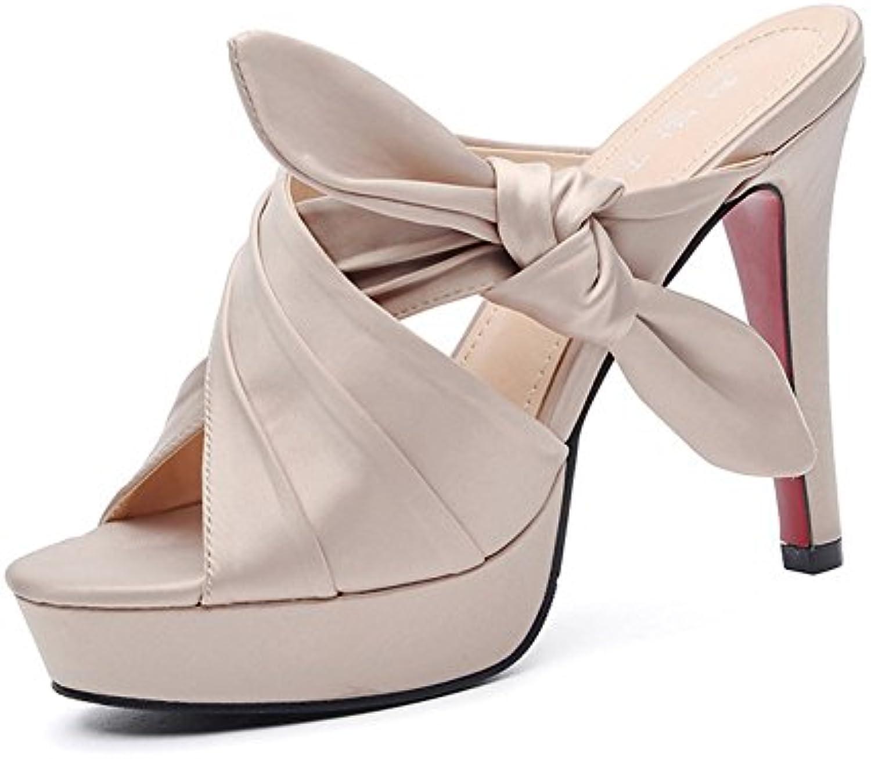 Sexy, Tacón Alto, Dedo del pie Abierto, Sandalias Romanas, Palabra Correa, Tacón Fino, Zapatos de Mujer 34 EU Nude 8cm
