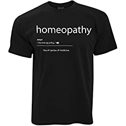 Tim And Ted Komisch T-Shirt Homöopathie, Die Luftgitarren-of Medicine Black X-Large