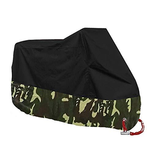 Preisvergleich Produktbild Motorrad Abdeckung All Season Wasserdicht Staubdicht UV Schutz Outdoor Indoor Moto Roller Bike Regen Abdeckung Camouflage 2XL for 2101-2200mm