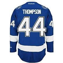 nate Thompson Tampa Bay Lightning Reebok Premier Home jersey NHL replica, unisex donna ragazza Ragazzi Uomo, Blue