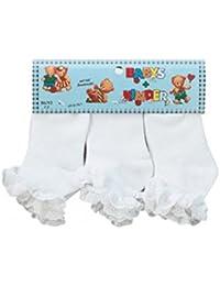 Bébé et enfants chaussettes avec de la dentelle 3-Pack