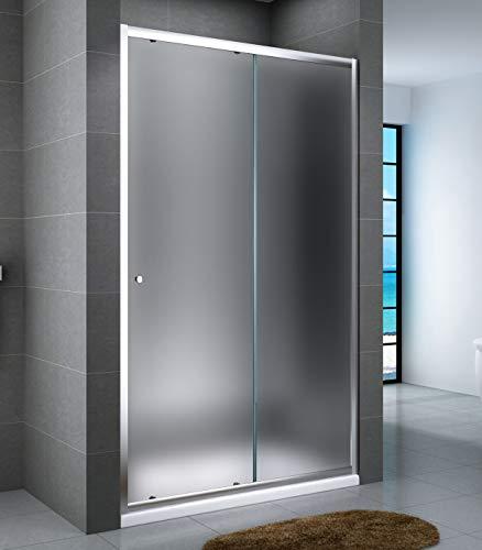 Yellowshop porta per box doccia a nicchia con anta scorrevole e struttura in alluminio anodizzato