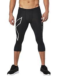 2x U Core–Mallas de compresión 3/4Medias, hombre, color negro/blanco, tamaño large