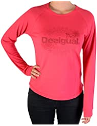 Desigual Mujer TS _ CA ml esssentials, 3139Negro, L Knitted Long Sleeve–Camiseta, otoño/invierno, mujer, color negro, tamaño large