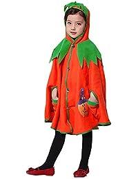 Preisvergleich für Riou Kinder Langarm Halloween Kostüm Top Set Baby Kleidung Set Kleinkind Kinder Halloween Kürbis Kapuzen Cosplay...
