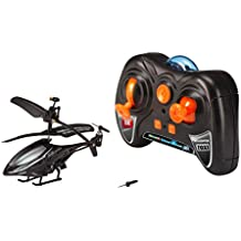 Revell Control RC Helikopter XS, ferngesteuerter Hubschrauber für Einsteiger, 3-CH IR Fernsteuerung, einfach zu fliegen, elektrischer Gyro, sehr stabil, USB-Ladekabel, nur Indoor - TOXI schwarz 23917