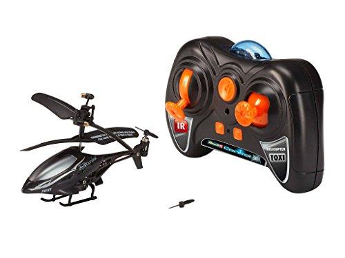 *Revell Control RC Helikopter XS, ferngesteuerter Hubschrauber für Einsteiger, 3-CH IR Fernsteuerung, einfach zu fliegen, elektrischer Gyro, sehr stabil, USB-Ladekabel, nur Indoor – TOXI schwarz 23917*