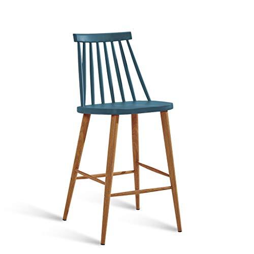 LPZ Barhocker Modern Einfache Hohe Hocker Bartisch Und Stuhl Barhocker Industrial Wind Hohe Bein Barhocker V (Farbe : Blau) -