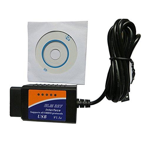 Shine @ V1.5 Diagnoseschnittstelle Scanner ELM327 OBDII OBD2 USB Auto Diagnose Scan (Legacy Gt 2005)