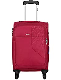Safari Fabric 78 cms Red Soft Side Suitcase (Badge 4W 75 EC RED)