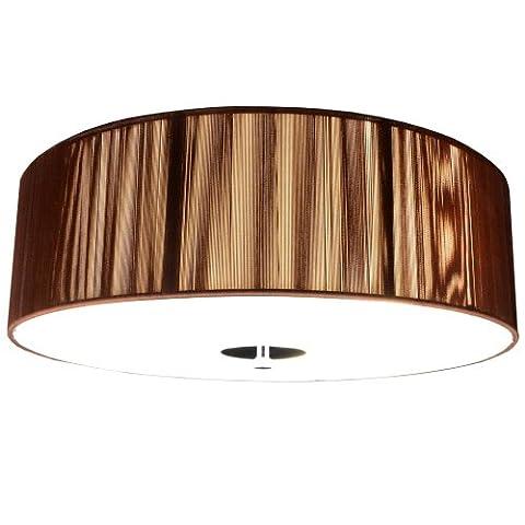 s`luce (Twine) COFFEE Deckenlampe 3-flammig, Ø40cm/H12cm, braun CORS/1C400/CO|Ø40/H12