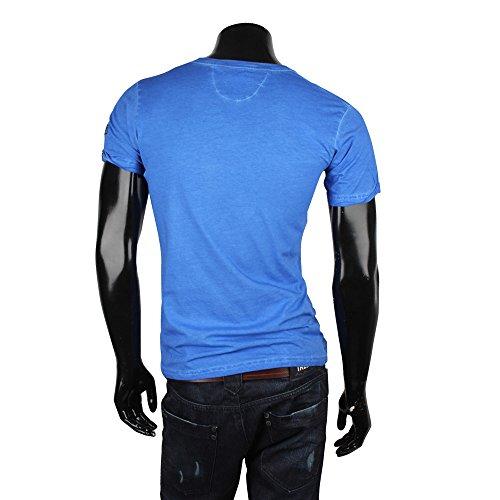 Tazzio Herren Polo Hemd Poloshirt Shirt Kurzarm Dunkelblau
