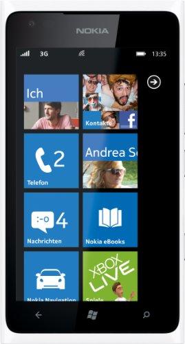 Nokia Lumia 900 Smartphone (10,92 cm (4.3 Zoll) Touchscreen, 8 Megapixel Kamera, Windows Phone Mango OS) weiß
