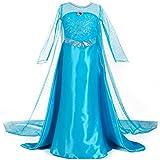 URAQT Traje del Vestido / Traje de Princesa de la nieve Vestido infantil Disfraz de Princesa de Niñas para Fiesta Carnaval Cumpleaños Cosplay