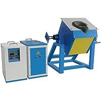Lanshuo Horno de Fundicion LSZ-15 15KW Horno para Fundir Metales 18A 550V Horno Fundicion para Oro Plata Cobre Latón Metales de Aluminio