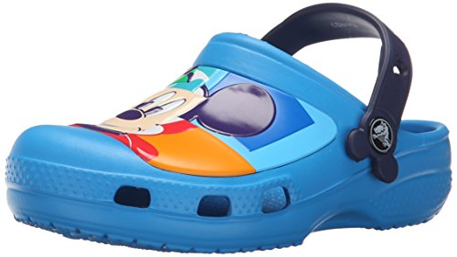 crocs CC Mickey Colorblock Clog, Unisex-Kinder Clogs, Blau (Ocean/Nautical Navy 4DG), 32/33 EU (J1 Unisex-Kinder UK)