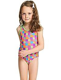 Zoggs Girls' Starcheck Actionback, bañador para niñas., niña, Starcheck, multicolor, 6 años