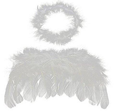 jinzhicheng Baby Kinder Engel Flügel Fee Flügel Kostüm Foto Requisiten Amor Farben (weiß) (Engel Kleid Kostüm)