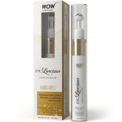 WOW Eye Luscious No Parabens and Mineral Oil Under Eye Roller, 15mL