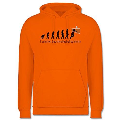Evolution - Beachvolleyballspielerin Evolution - Männer Premium Kapuzenpullover / Hoodie Orange
