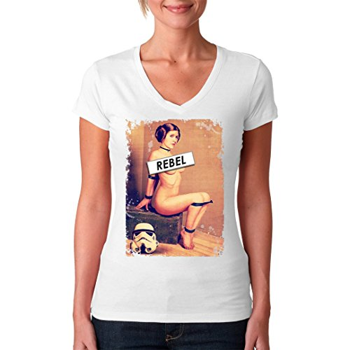 Im-Shirt - Sexy Leia Pinup cooles Fun Girlie Shirt - verschiedene Farben Weiß