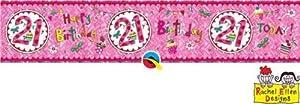Rachel Ellen- Pancarta de fiesta, Color rosa (25034)