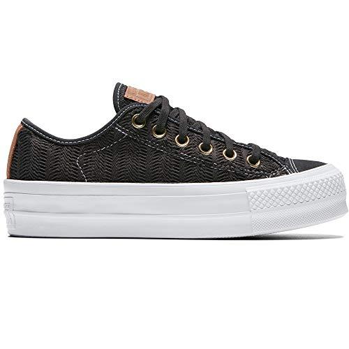 Converse Chuck Taylor All Star Lift Damen Turnschuhe Canvas Sneaker Sportschuhe mit Cultz Aufkleber Grau 37