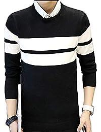 Battercake La Camiseta De Los Hombres con De El Algodón Suéter Impreso Simple Cómodo Manga Corta