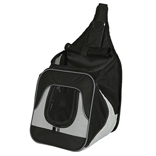 Trixie 28941 Savina Fronttasche, Nylon, 30 × 33 × 26 cm, schwarz/grau