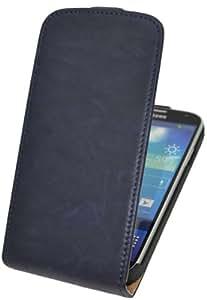 Suncase Flip-Style Vintage Ledertasche für Samsung Galaxy S4 i9505 wash-navy
