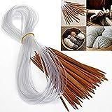 1 Set 18 Sizes Afghan Tunisian Carbonized DIY Circular Bamboo Needle Crochet Hooks Weaving Knitting Needles Tube