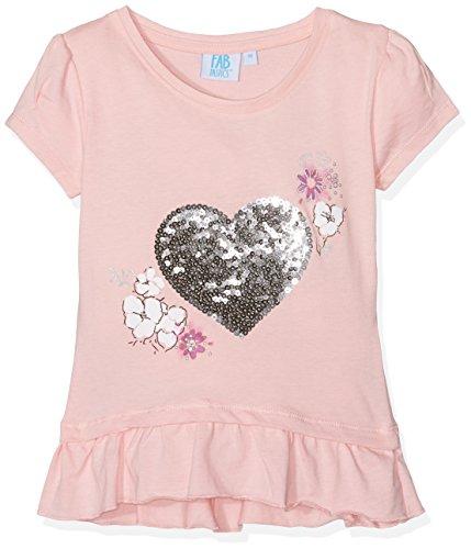 FABTASTICS Herren T-Shirt mit Print MINIONSFABTASTICS Mädchen T-Shirt mit Pailletten Herz, Rosa, 128 (Europa T-shirt Mädchen)