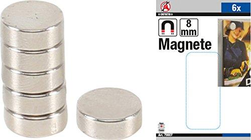 Force Homme 79907 Jeu de magnétique, extra fort, 6 pièces, diamètre 8 mm