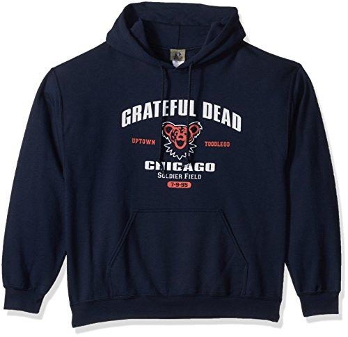 Liquid Blue Herren Kapuzenpullover Grateful Dead Chicago Soldier Field 1995 Tour Pullover - Blau - Groß