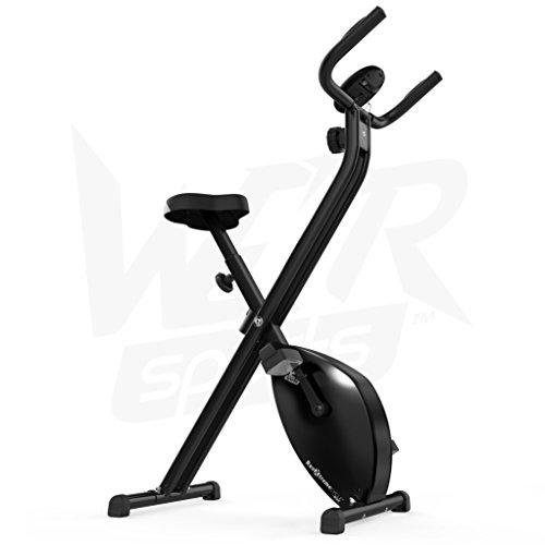 Hometrainer, X-Bike, zusammenklappbar, magnetisch, für Fitness, Cardio, Workout, Gewichtsabbau - 8