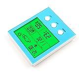 hihair inalámbrico Digital LCD Digital Higrómetro y medidor de humedad indicador, mayor pantalla retroiluminada, traje para casa y oficina, azul