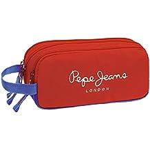 Pepe Jeans Bicolor Boy Neceser de Viaje, 1.98 Litros, Color Rojo