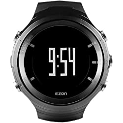 EZON G3A01 GPS Men's Sports Watch Heart Rate Monitor Smart Watches with Bluetooth Waterproof Wristwatch (Black)