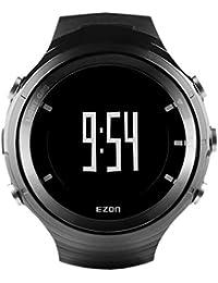 5e6a598e467b EZON G3A01 GPS hombres Relojes deportivos reloj digital con Bluetooth  Monitor de ritmo cardíaco Pedómetro cronómetro (negro) B06XNJVQVG