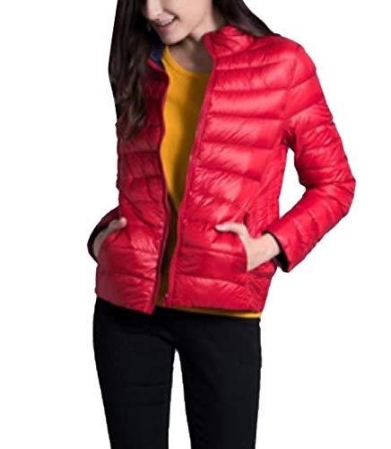 CuteRose Women Short Warm Oversized Stand Up Collar Reversible Coat Jacket AS4 3XL Plus-size-reversible Coat