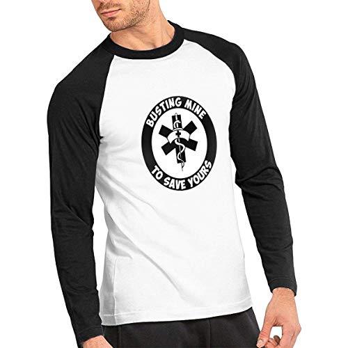 Baostic Herren Kurzarmshirt Rn Nurse Rx Vinyl Mens Raglan Tee Shirts Long Sleeve Mens Baseball Tops Rx Rack