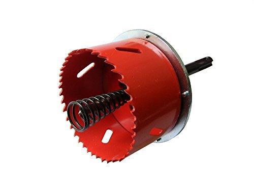 Scie HSS de coupe en métal avec avellanador pose pour boîtes de paroi 68-105 mm Ø