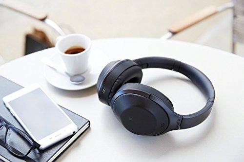 Sony MDR-1000X kabelloser High-Resolution Kopfhörer (Noise Cancelling, Sense Engine, NFC, Bluetooth, bis zu 20 Stunden Akkulaufzeit) schwarz - 11